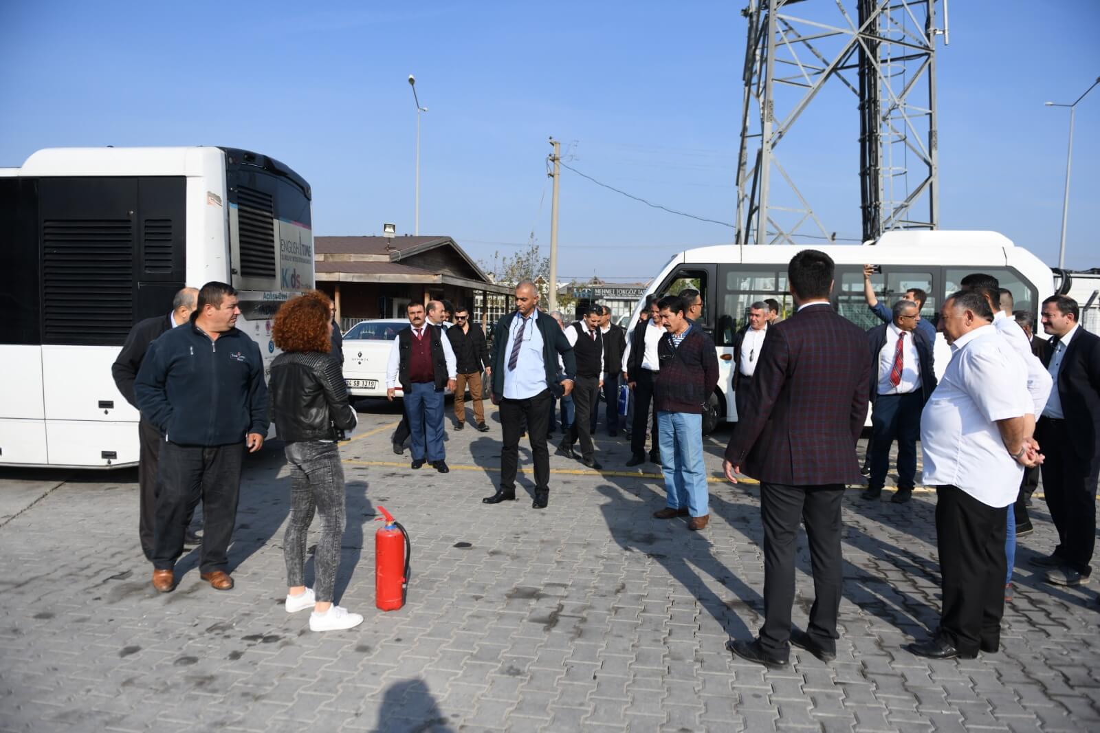 Şehir İçi Toplu Taşıma Şoförlerine Yangın Eğitimi Verildi